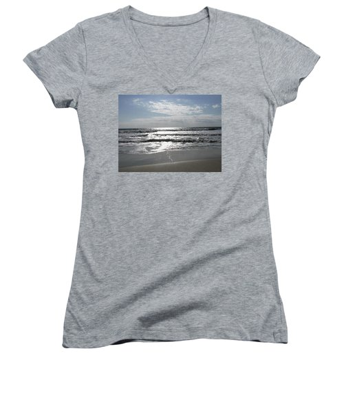 Swirling Sunshine Women's V-Neck T-Shirt (Junior Cut)