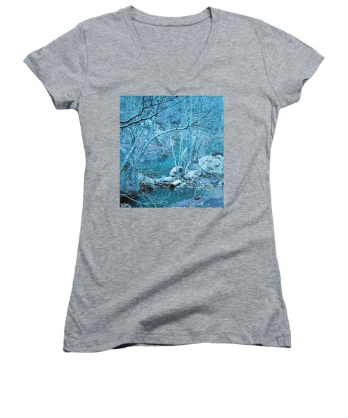 Sycamores And River Women's V-Neck