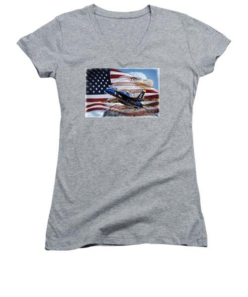 Symbols Women's V-Neck T-Shirt (Junior Cut) by Bob Hislop