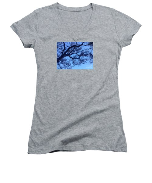 Women's V-Neck T-Shirt (Junior Cut) featuring the photograph Symphony by Nora Boghossian