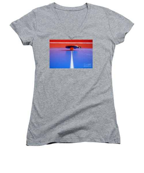 Table Tennis Women's V-Neck T-Shirt