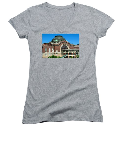 Tacoma Court House At Union Station Women's V-Neck (Athletic Fit)