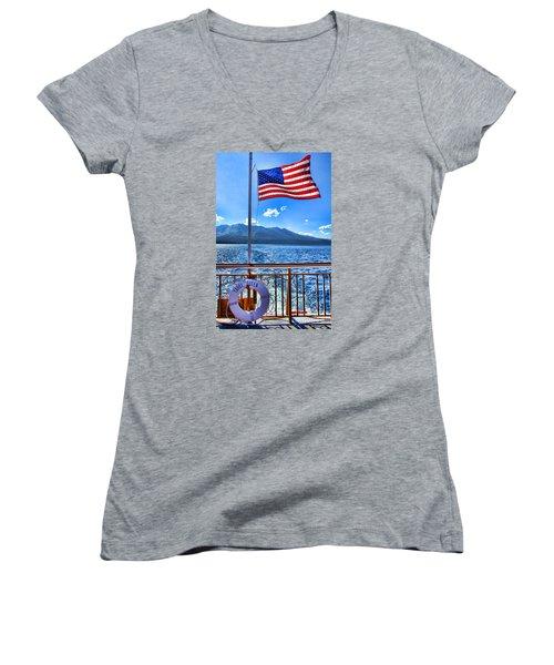 Tahoe Queen Lake Tahoe By Diana Sainz Women's V-Neck