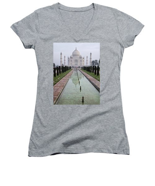 Taj Mahal Early Morning Women's V-Neck (Athletic Fit)