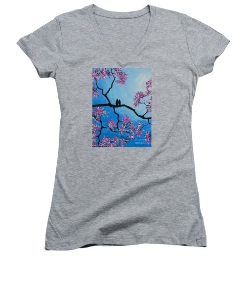 Take Me Away With You Women's V-Neck T-Shirt (Junior Cut) by Dan Whittemore