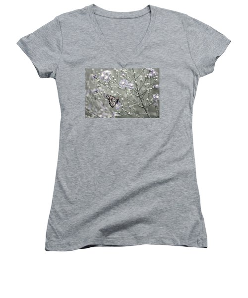 Taking Time To Smell The Flowers Women's V-Neck T-Shirt