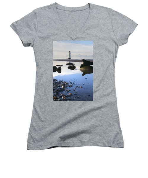 Talacer Abandoned Lighthouse Women's V-Neck T-Shirt