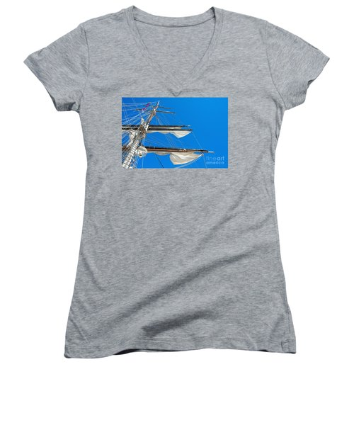 Tall Ship Yards Women's V-Neck (Athletic Fit)