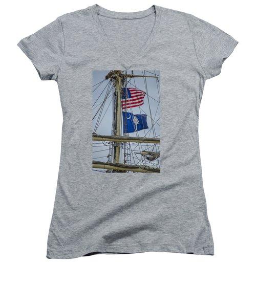 Tall Ships Flags Women's V-Neck