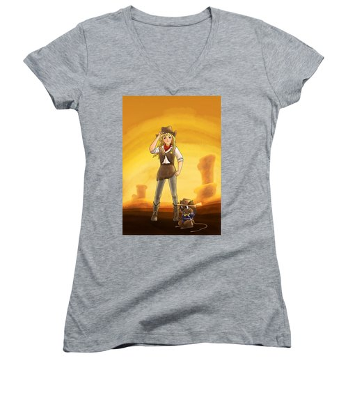 Tammy And Alfred Tame The West Women's V-Neck T-Shirt