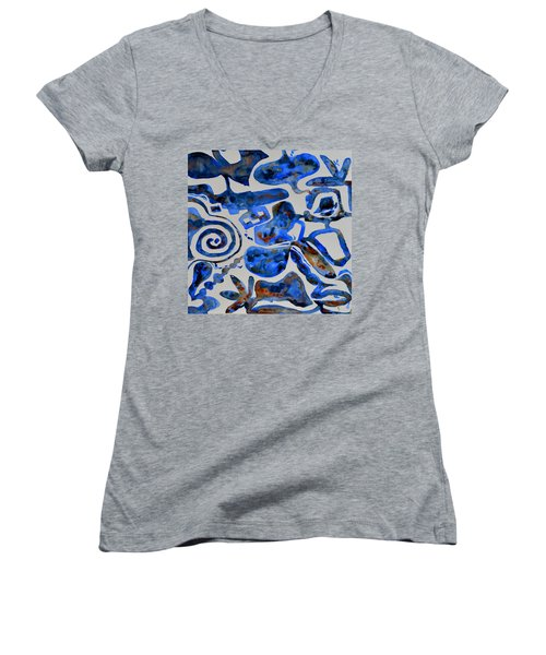 Tangled Up In Blue Women's V-Neck (Athletic Fit)