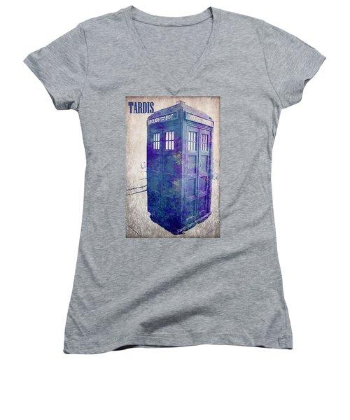 Tardis Women's V-Neck T-Shirt