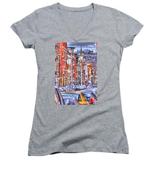 Taxi Women's V-Neck T-Shirt