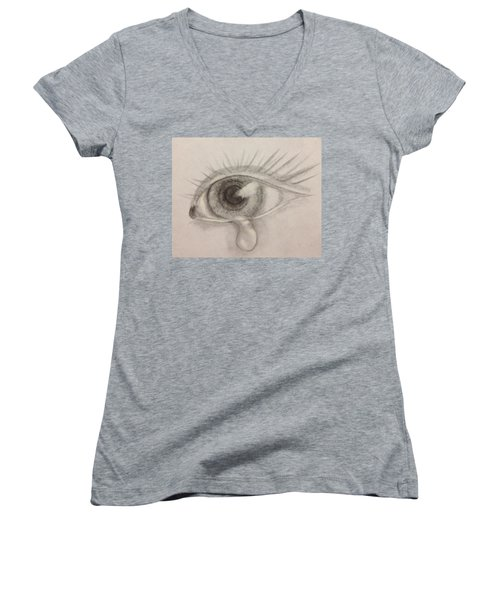 Tear Women's V-Neck T-Shirt