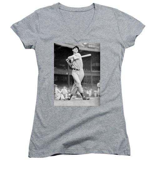 Ted Williams Swing Women's V-Neck T-Shirt