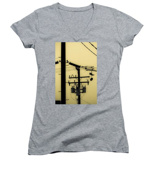 Telephone Pole And Sneakers 5 Women's V-Neck