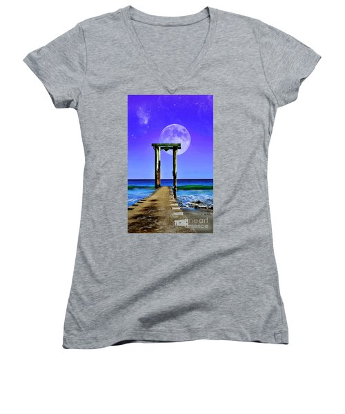 Temple Of The Atlantic Women's V-Neck (Athletic Fit)