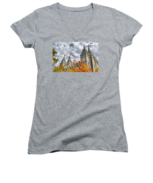 Temple Trees Women's V-Neck (Athletic Fit)