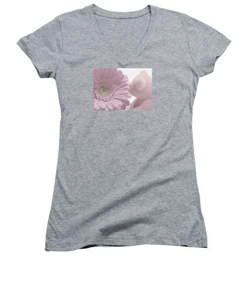 Tenderly Women's V-Neck T-Shirt (Junior Cut) by Angela Davies
