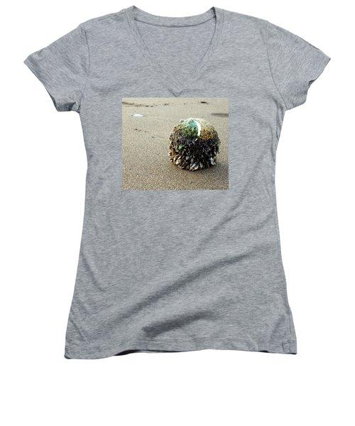 Tennis Anyone? Women's V-Neck T-Shirt (Junior Cut) by Peter Mooyman