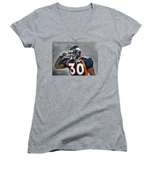 Terrell Davis  Women's V-Neck T-Shirt