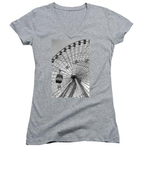Texas Star Ferris Wheel Women's V-Neck