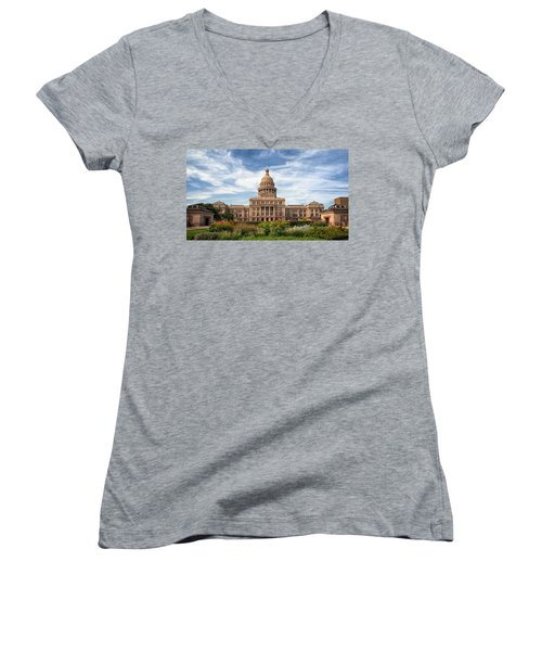 Texas State Capitol II Women's V-Neck