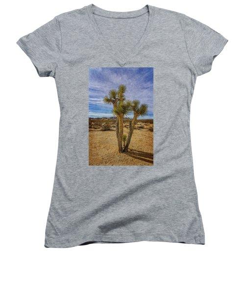 Textured Women's V-Neck T-Shirt
