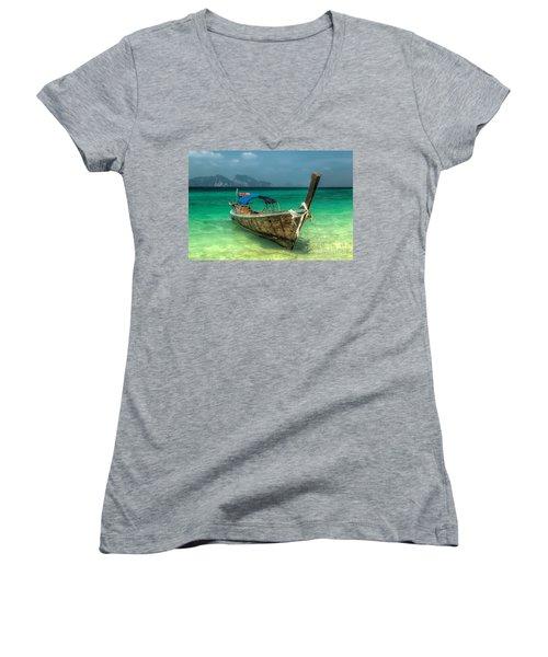 Thai Boat  Women's V-Neck