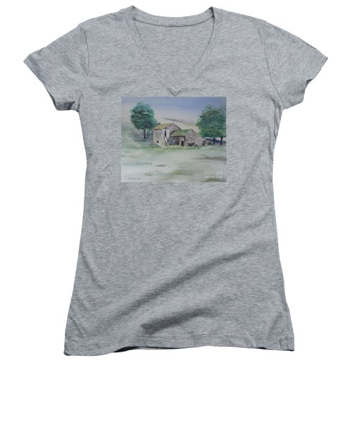 The Abandoned House Women's V-Neck (Athletic Fit)