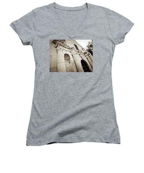 The Alamo Women's V-Neck T-Shirt