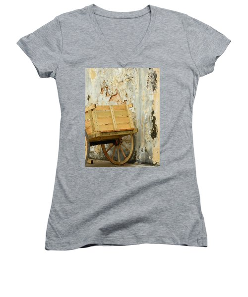 The Apple Cart Women's V-Neck (Athletic Fit)