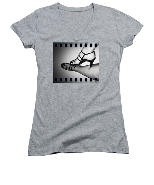 The Art Of Stilettos Women's V-Neck T-Shirt (Junior Cut) by Absinthe Art By Michelle LeAnn Scott
