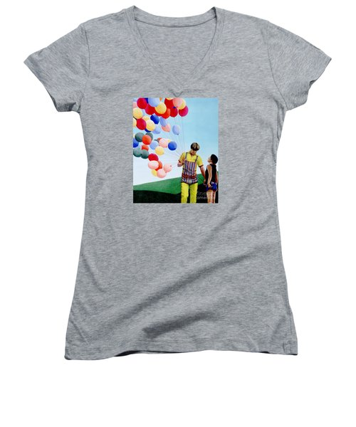 The Balloon Man Women's V-Neck T-Shirt
