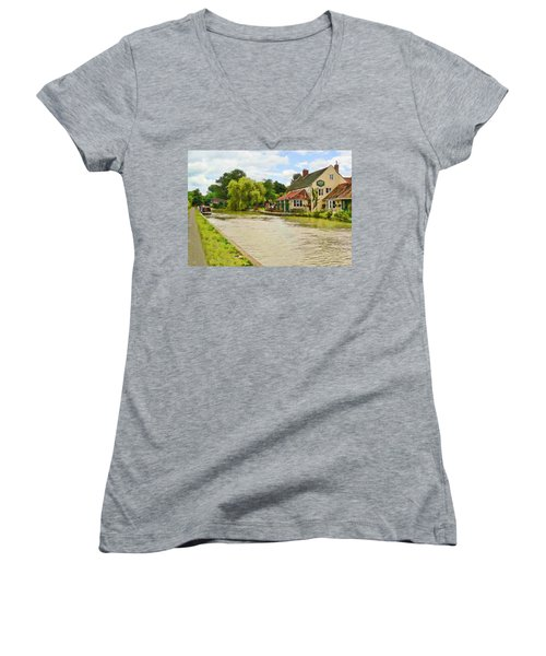 The Barge Inn Seend Women's V-Neck (Athletic Fit)