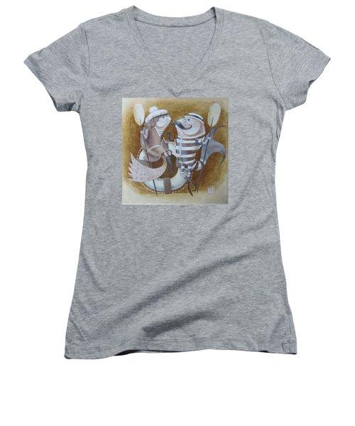 The Beach Women's V-Neck T-Shirt (Junior Cut)