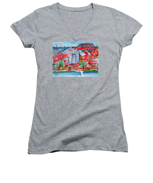 The Beach Shack Women's V-Neck (Athletic Fit)