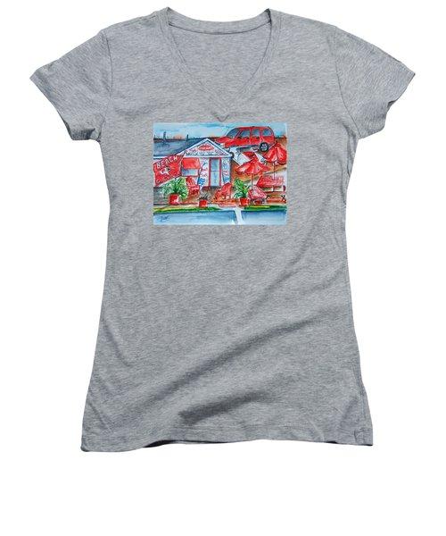 The Beach Shack Women's V-Neck T-Shirt