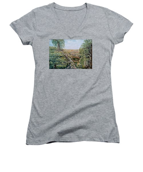 The Beauty Of A Marsh Women's V-Neck (Athletic Fit)