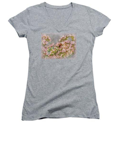 The Bee Women's V-Neck T-Shirt (Junior Cut) by Hanny Heim