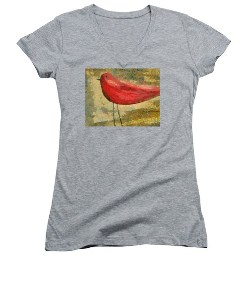 The Bird - K03b Women's V-Neck T-Shirt (Junior Cut) by Variance Collections