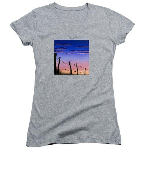 The Birds - Morning Has Broken Women's V-Neck T-Shirt