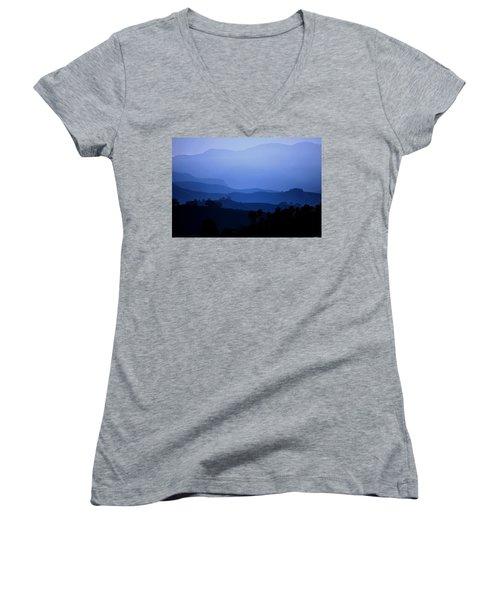 The Blue Hills Women's V-Neck T-Shirt (Junior Cut) by Matt Harang