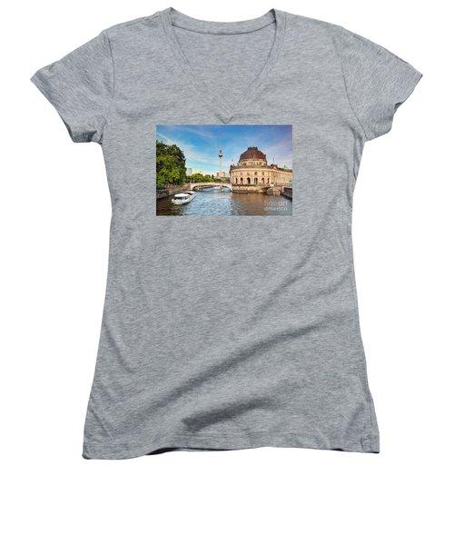 The Bode Museum Berlin Germany Women's V-Neck T-Shirt