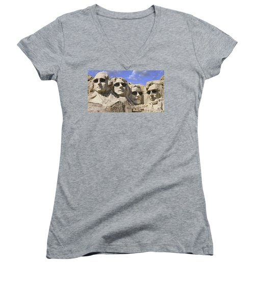 The Boys Of Summer 2 Panoramic Women's V-Neck T-Shirt (Junior Cut) by Mike McGlothlen