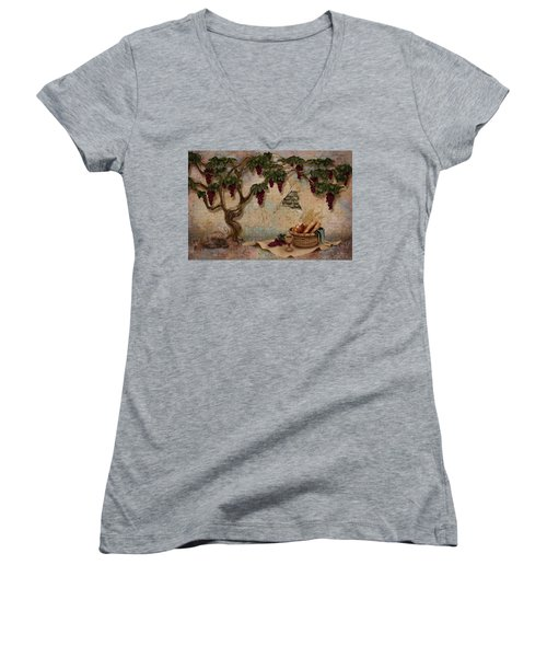 The Bread And The Vine Women's V-Neck (Athletic Fit)
