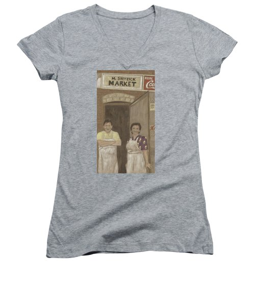 The Butcher And His Wife  Women's V-Neck T-Shirt