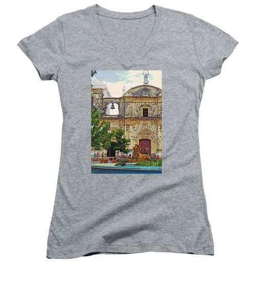 The Cathedral Of Leon Women's V-Neck T-Shirt