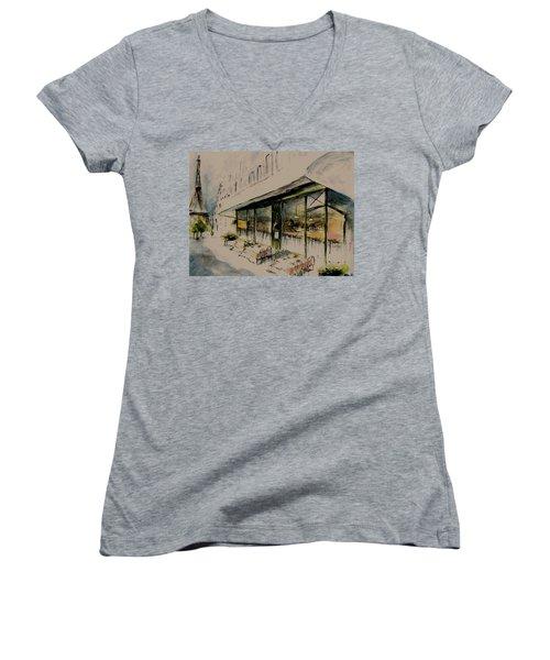 The Champs Elysees Women's V-Neck T-Shirt
