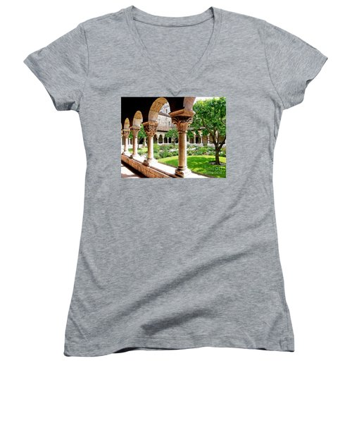 The Cloisters Women's V-Neck T-Shirt (Junior Cut) by Sarah Loft